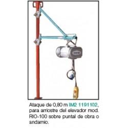 ATAQUE DE 0,8M, CON ABRAZADERAS PUNTAL O ANDAMIO